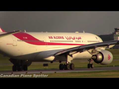 Air Algerie A330-200 Landing and Takeoff from Montreal-Trudeau Int'l Airport