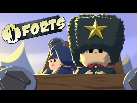 Forts - Defeating the Demo Campaign! - Let's Play Forts Campaign Gameplay