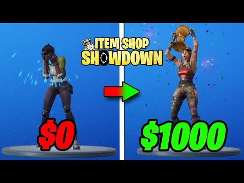 How To Win $1000 Playing Fortnite... (Item Shop Showdown)