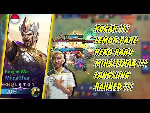 KOCAK !!! RRQ'Lemon Pake Hero Baru Minsitthar Langsung RANKED !!! Minsitthar Build Mobile Legends
