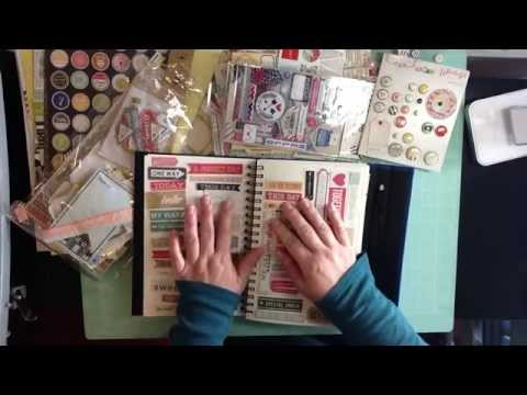 My August 2015 Counterfeit Kit Inspired by Scrappy Canary's Globe Trotter Scrapbook Kit