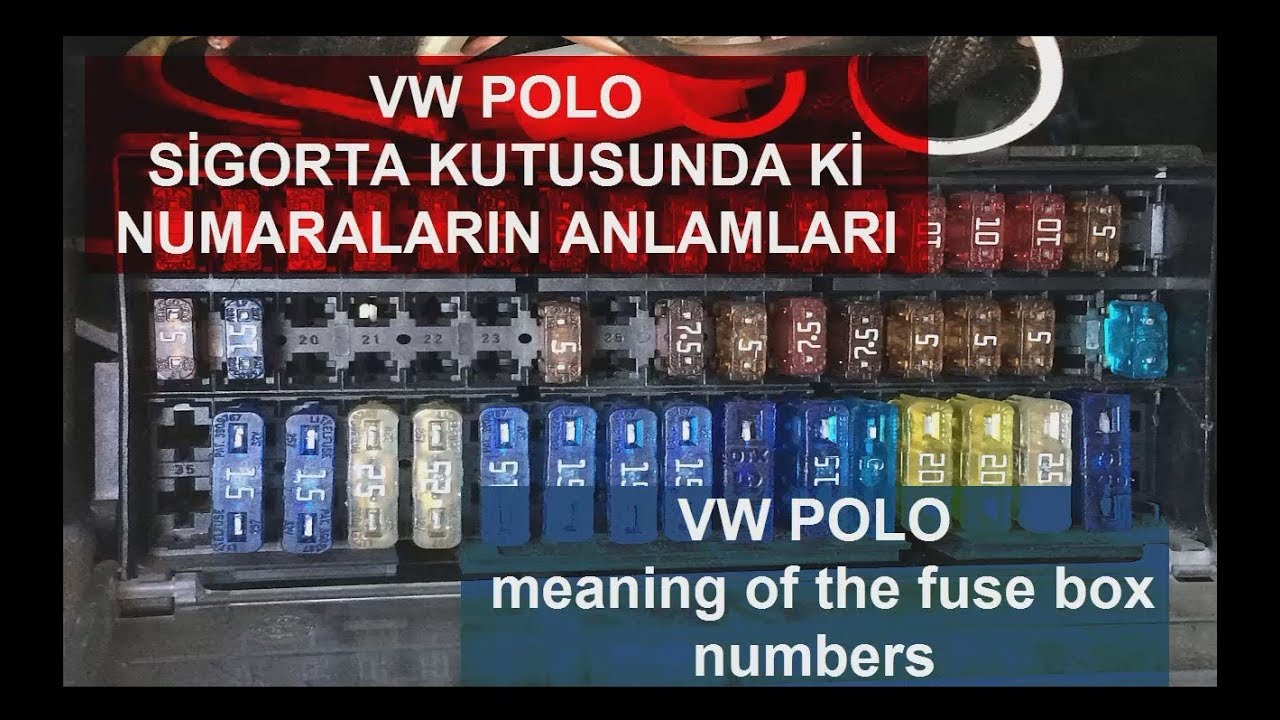 vw polo sigorta kutusu anlamlar vw polo fuse box meanings polovw polo sigorta [ 1280 x 720 Pixel ]