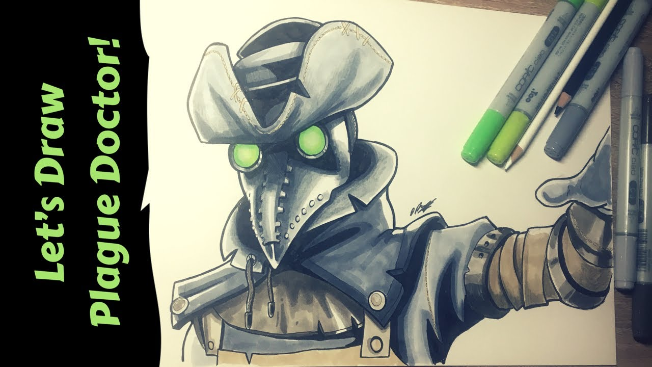Let 39 s draw fortnite plague doctor speed drawing youtube - Fortnite plague skin ...