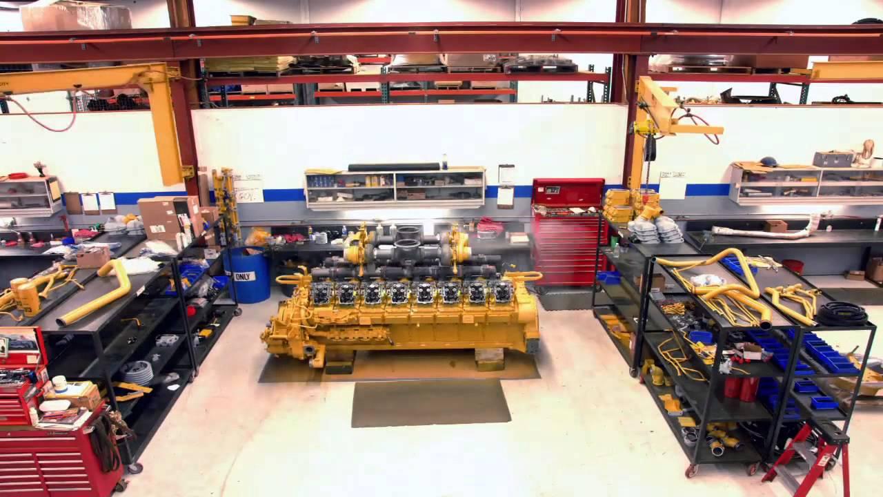 caterpillar 3516 engine build in 20 seconds