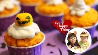 (*´ー`*) Halloween Jack O'lantern & Ghost Muffins★ハロウィンのマフィン