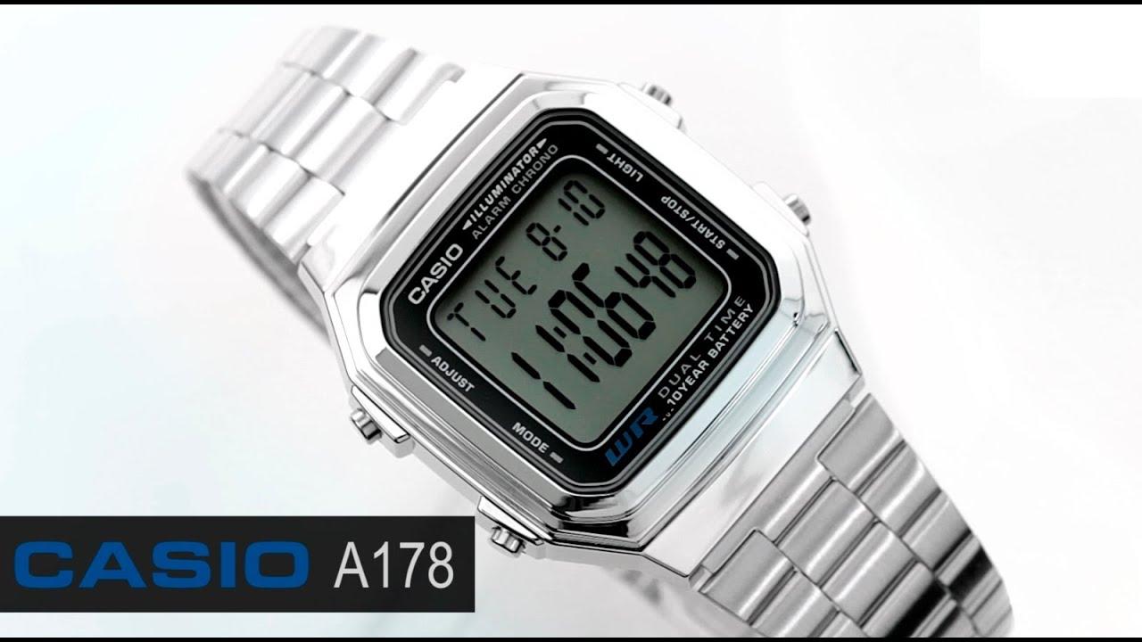 7dc789181f7f Reloj Casio Retro Vintage A178 Plata - www.CompraFacil.mx - YouTube