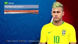 PES 2018 - FACE NEYMAR JR - WORLD CUP 2018 - PC By: Alief