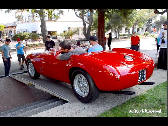 Classic 1954 Ferrari 375 MM Spider Amazing Exhaust Sound!