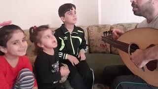 بروفا  تحضير مع اطفالي  لأغنية انا توب عن حبك انا ..
