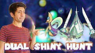 DUAL SHINY HUNT! SHINY CRESSELIA AND CELESTEELA in Pokemon Ultra Sun/Ultra Moon! Come hangout!