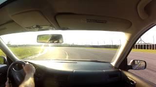 Track Night in America, 5/5/15, AMP, Vw Jetta Mk4, third run. Corvette crashed into the wall hard.