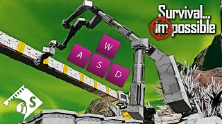 Survival Impossible - Keyboard Crane Controls #40 - Space Engineers Hardcore Survival
