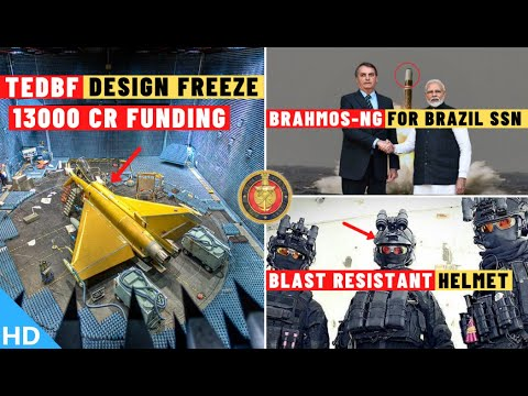 Download Indian Defence Updates : TEDBF Final Design Freeze,BrahMos NG For Brazil SSN,IIT Roorkee New Helmet