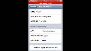 iPhone 4 - Aldi-Talk Internetflatrate aktivieren