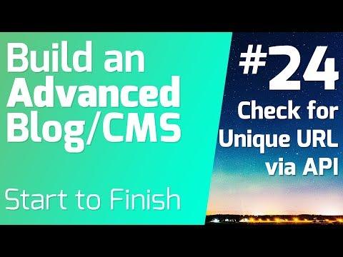API Call to Ensure Unique URL (Ep 24) - Build an Advanced Blog/CMS