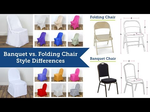 Banquet Chair Covers vs Folding Chair Covers | BalsaCircle.com