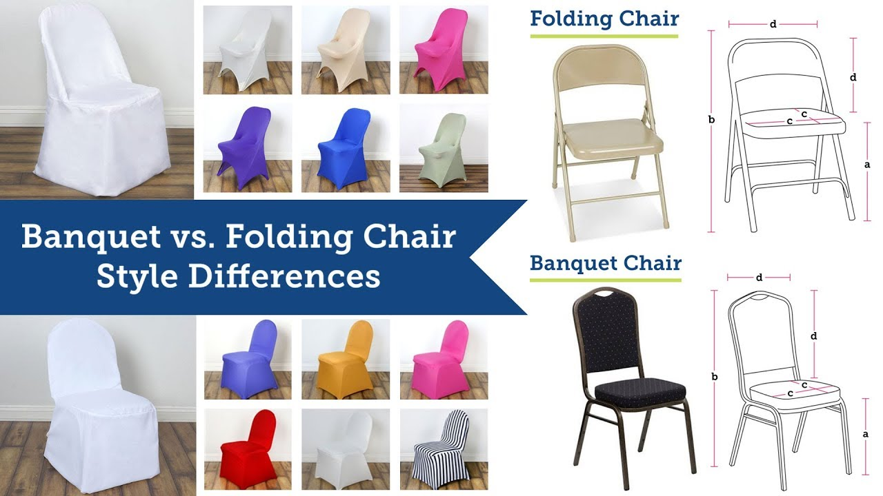 Banquet Chair Covers vs Folding Chair Covers