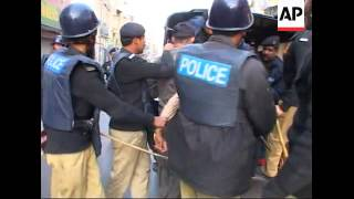 WRAP Police clash with demonstrators in Rawalpindi ADDS more