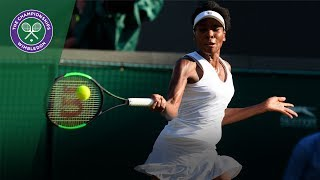 Venus Williams v Qiąng Wang highlights - Wimbledon 2017 second round