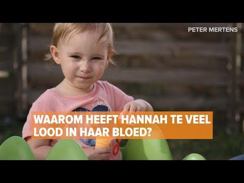 En plots had de kleine Hannah lood in haar bloed