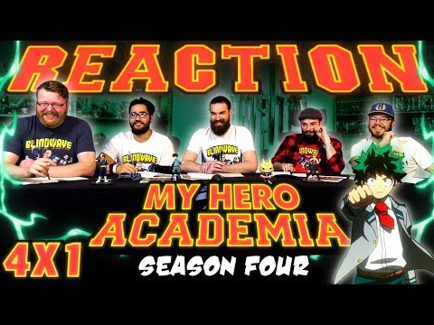 "My Hero Academia [English Dub] 4x1 REACTION!! ""The Scoop On U.A. Class 1-A"""