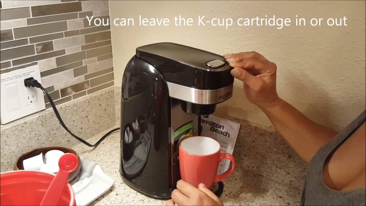 How to use Hamilton Beach FlexBrew Coffee Maker YouTube