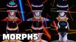 Power Rangers In Space - All Ranger Morphs | Episodes 2-43 | It