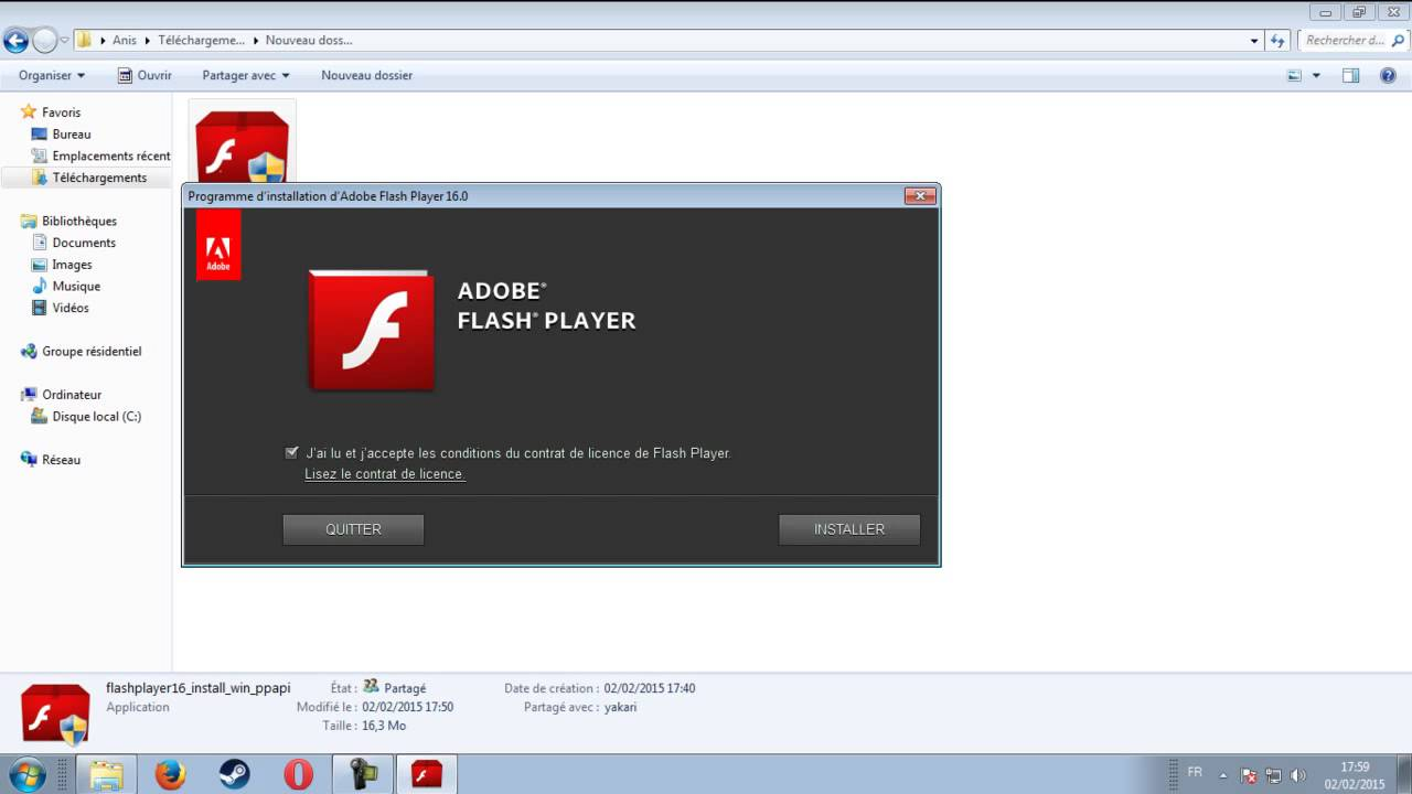 Adobe Flash Player is out of date Opera YouTube