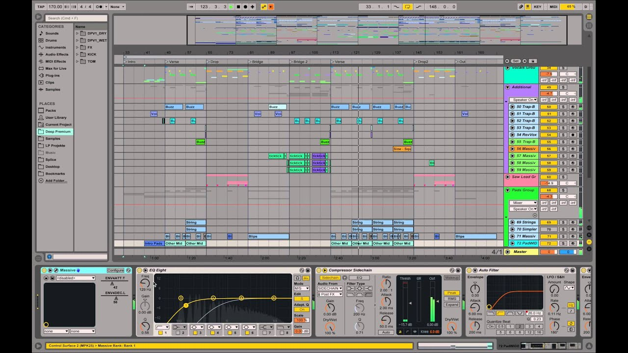 Future Bass Coyote Kisses, What So Not Style Tutorial Ableton Massive -  Part 4: Playthrough