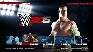 WWE 2K15 Xbox One - Main Menu, ROSTER & NEW Modes (XBOXONE/PS4)