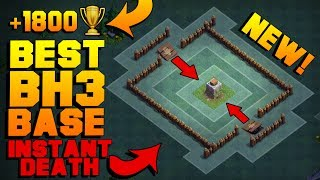 BEST Builder Hall 3 Base w/ PROOF!   NEW CoC BH3 ANTI GIANT BUILDER BASE!!   Clash of Clans