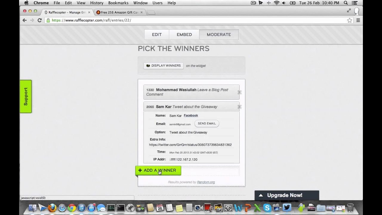 25 amazon gift card or rs 1350 flipkart gift voucher winners youtube
