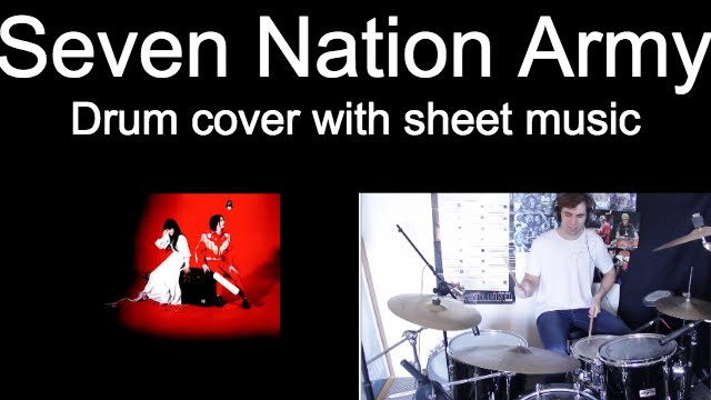 Drum drum tabs white stripes : The White Stripes Seven Nation Army Drum Cover With Sheet Music ...