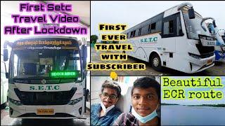🚌SETC ECR TRAVEL VLOG!!! Chennai to Kumbakonam Bus Travel Via-Pondy,Cuddalore | Naveen Kumar