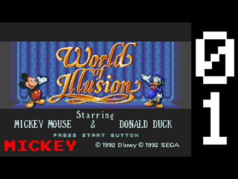 Let's Play World Of Illusion (Mickey's Path), Level 1