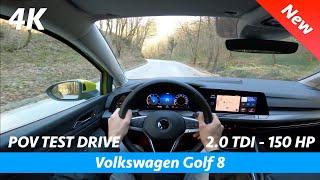 Volkswagen Golf 8 2020 - POV test drive in 4K | 2.0 TDI - 150 HP, 0 - 100 km/h