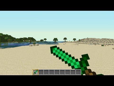 Minecraft Easter Egg Emerald Sword  YouTube