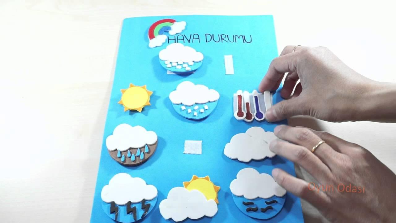 Aktivite Kitabi Yapimi Dikissiz Hava Durumu Ve Mevsimler Sayfasi