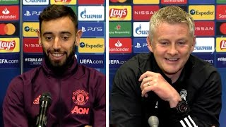 Ole Gunnar Solskjaer & Bruno Fernandes - PSG v Man Utd - Pre-Match Press Conference - UCL