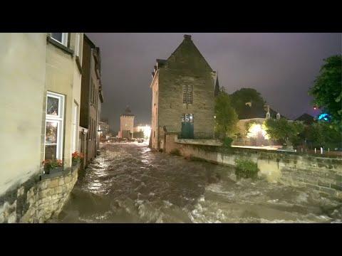 De overstroming van de Geul in Valkenburg