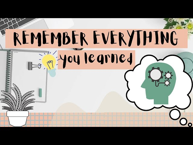 How to memorize | fast and easy method to remember things better