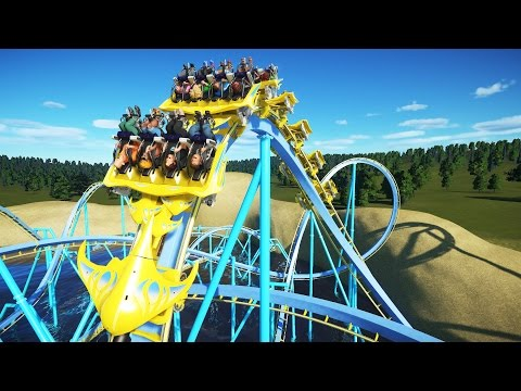 Planet Coaster Gameplay - Beach Coaster! - Let's Play Planet Coaster Part 5