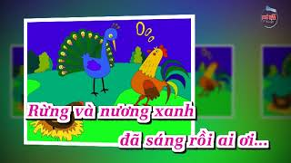Karaoke HD Gà Gáy Âm Nhạc Lớp 3