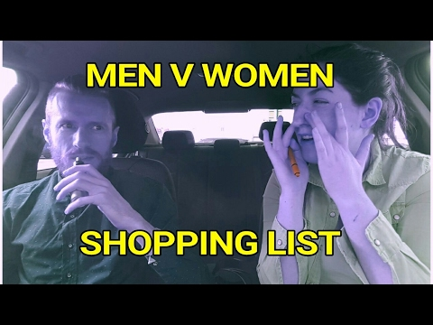 Men V Women: Shopping List