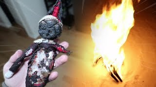 BURNING MY EVIL ELF ON THE SHELF AT 3 AM CHALLENGE!! (GONE WRONG)