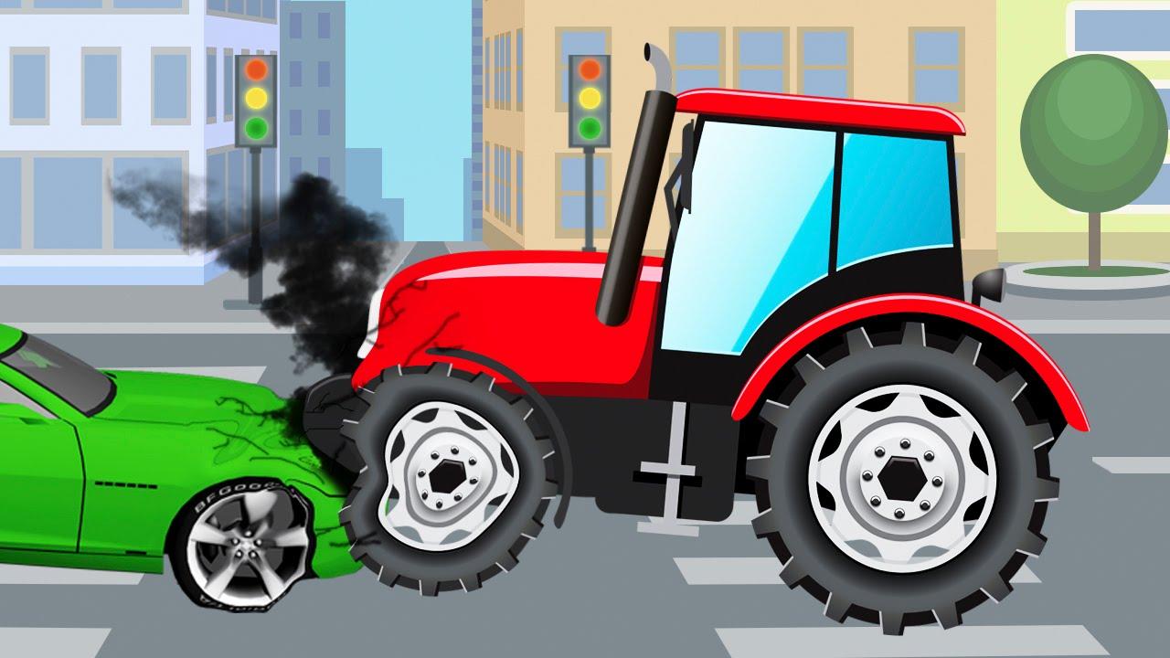 tracteur pour b b s vid o ducative de voitures dessin anim fran ais youtube. Black Bedroom Furniture Sets. Home Design Ideas