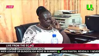 EOCO Battles Deputy EC Chair, Georgina Opoku Amankwa At Her Office
