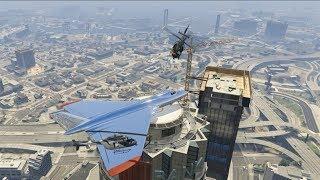 LANDING The BIGGEST Plane On A TOWER Challenge - GTA V