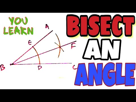 HOW TO BISECT AN ANGLE | GEOMETRICAL CONSTRUCTION | ENGINEERING DRAWING |