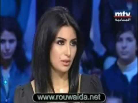 Rouwaida Attieh / رويدا عطية ,,Talk of The Town,, on MTV 28.01.10 part 1